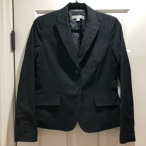 Anne Klein Platinum Black Striped Blazer Size 8